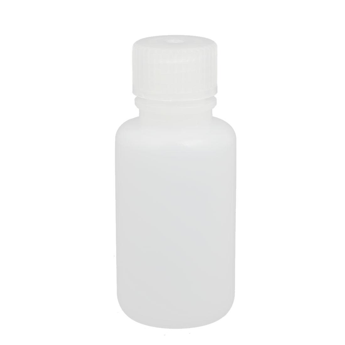 50ml Plastic Round Lab Reagent Bottle Sample Thicken Bottle White