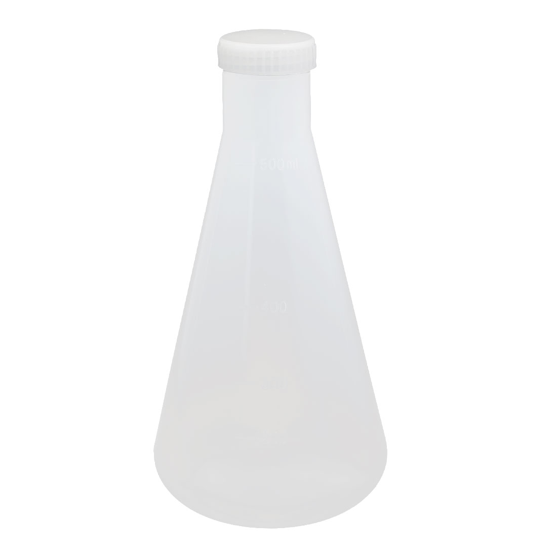 Chemistry Lab 500ml Plastic Cone Graduated Measuring Cup Thicken Clear