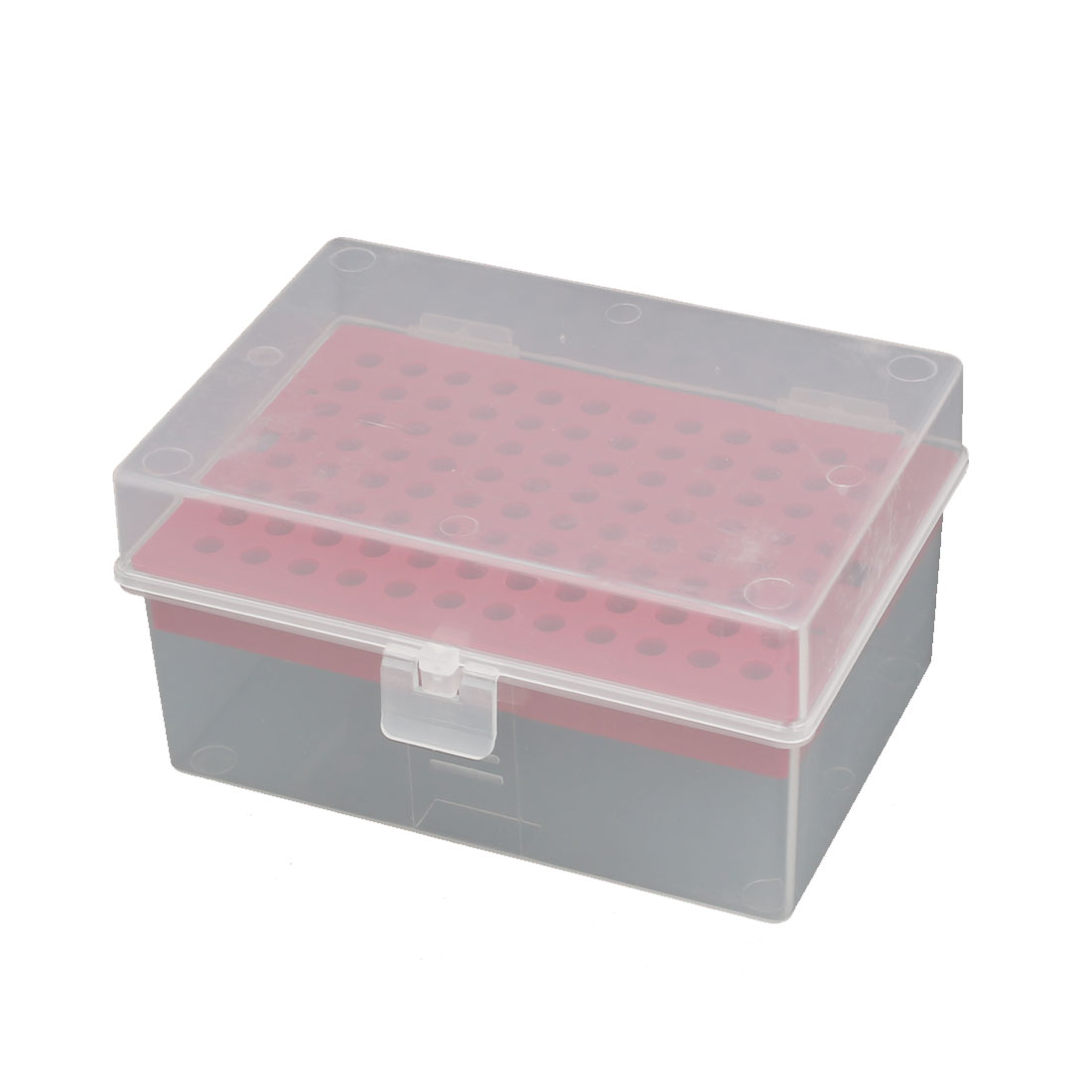 200UL 96 Positions Centrifuge Tube Holder Rack Storage Box Case Red Clear