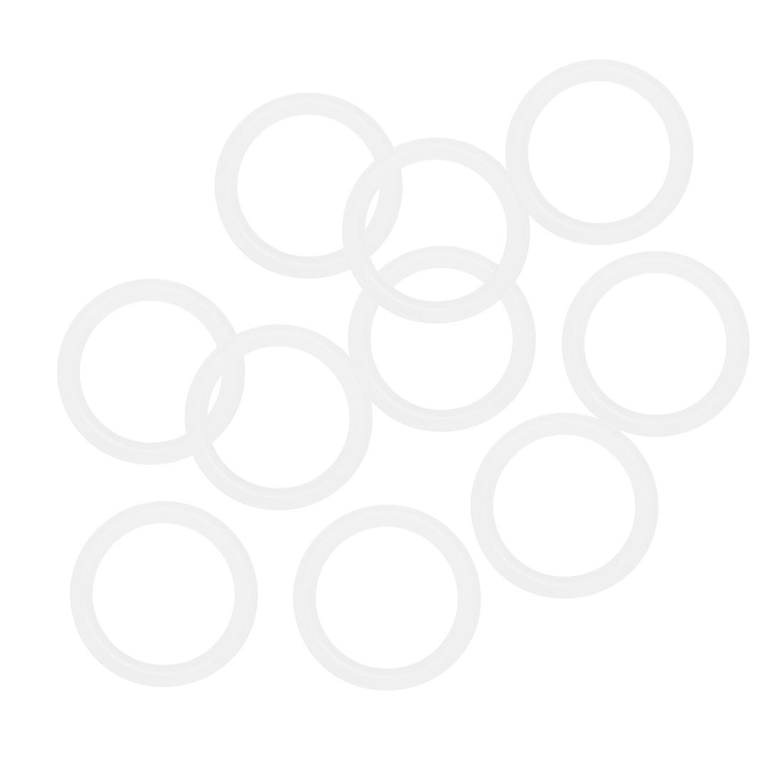 10 Pcs Silica Gel O-rings Sealing Rings 16mm x 2mm White Gasket Washer