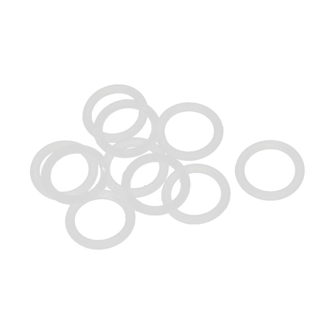 10 Pcs Silica Gel O-rings Sealing Rings 14mm x 2mm White Gasket Washer