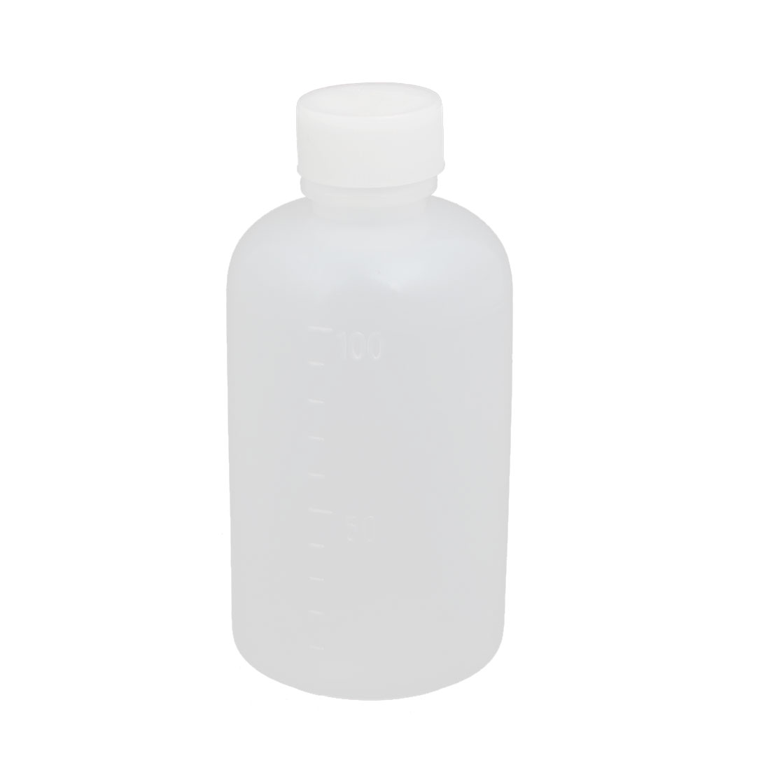 100ml 13mm Diameter PE Plastic Round Narrow Mouth Bottle Clear