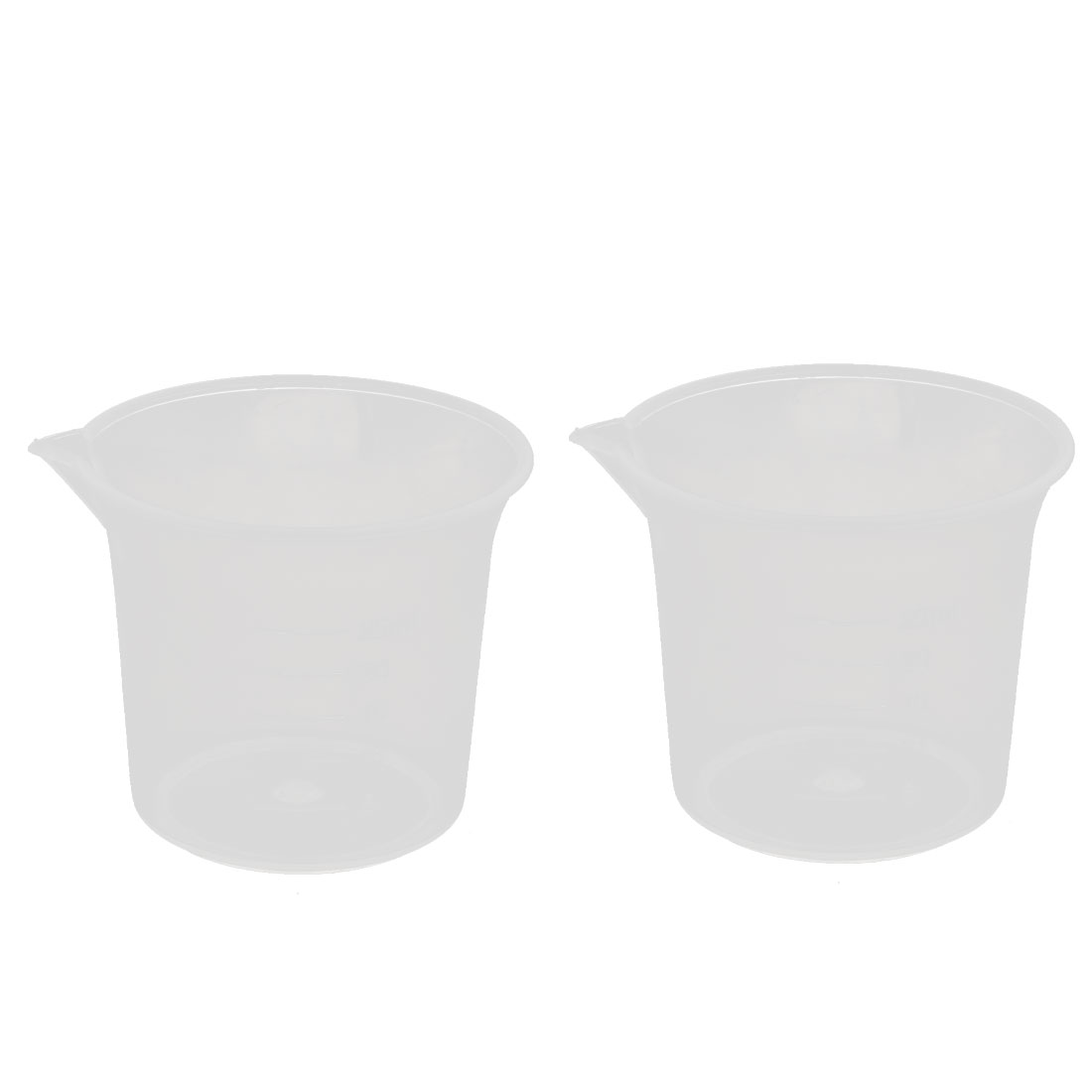 25mL Laboratory Spout Container Measuring Cup Beaker Clear 2pcs