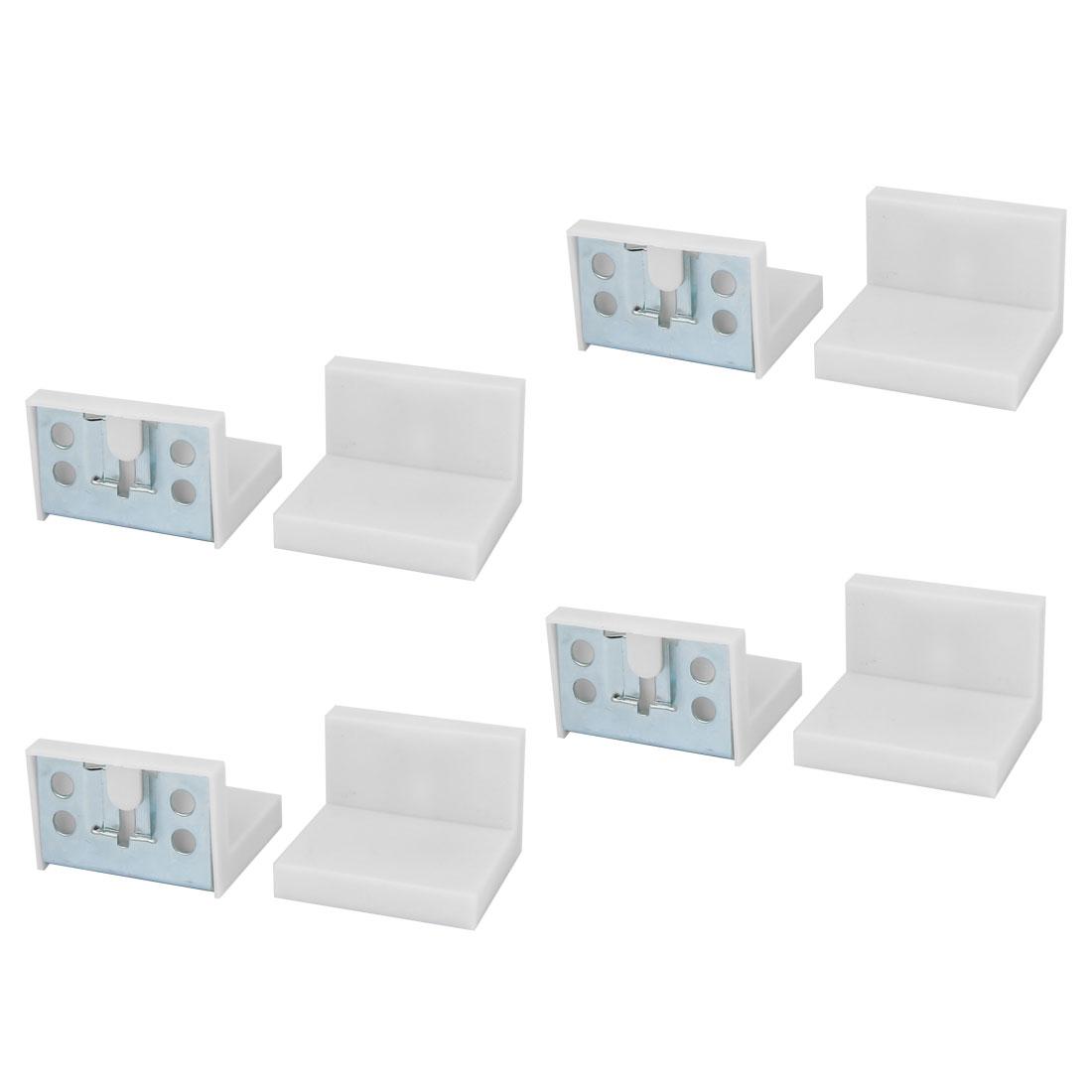 Cupboard Cabinet Wardrobe Iron Corner Brace Right Angle Bracket 50mmx45mm 8pcs