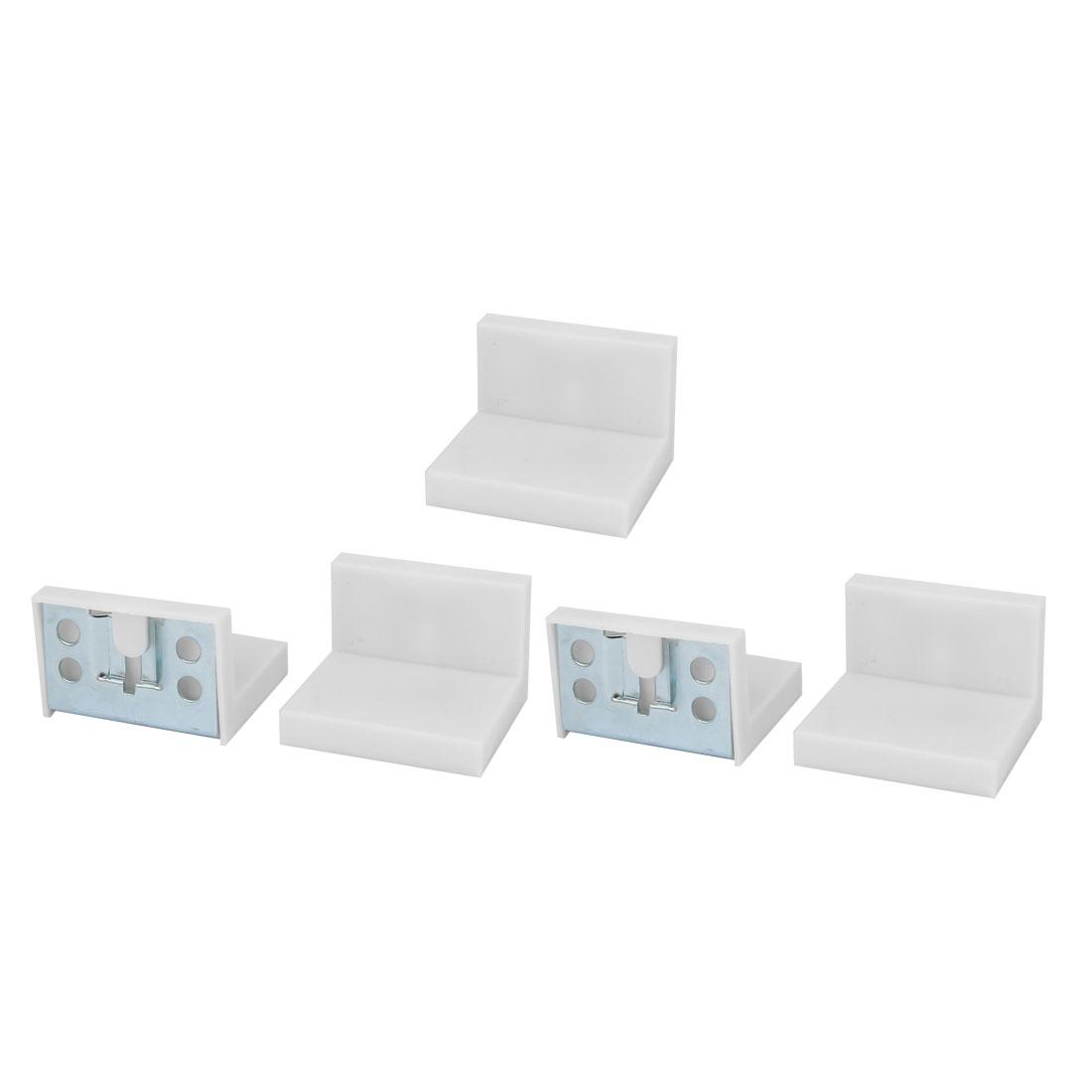 Cupboard Cabinet Wardrobe Iron Corner Brace Right Angle Bracket 50mmx45mm 5pcs