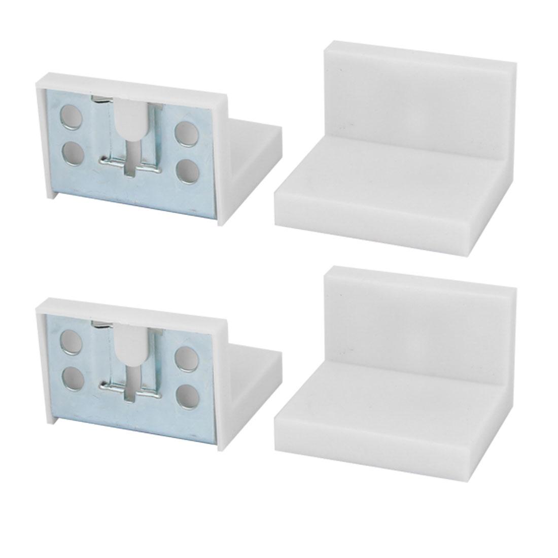 Cupboard Cabinet Wardrobe Iron Corner Brace Right Angle Bracket 50mmx45mm 4pcs