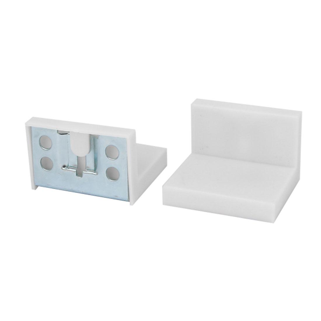 Cupboard Cabinet Wardrobe Iron Corner Brace Right Angle Bracket 50mmx45mm 2pcs