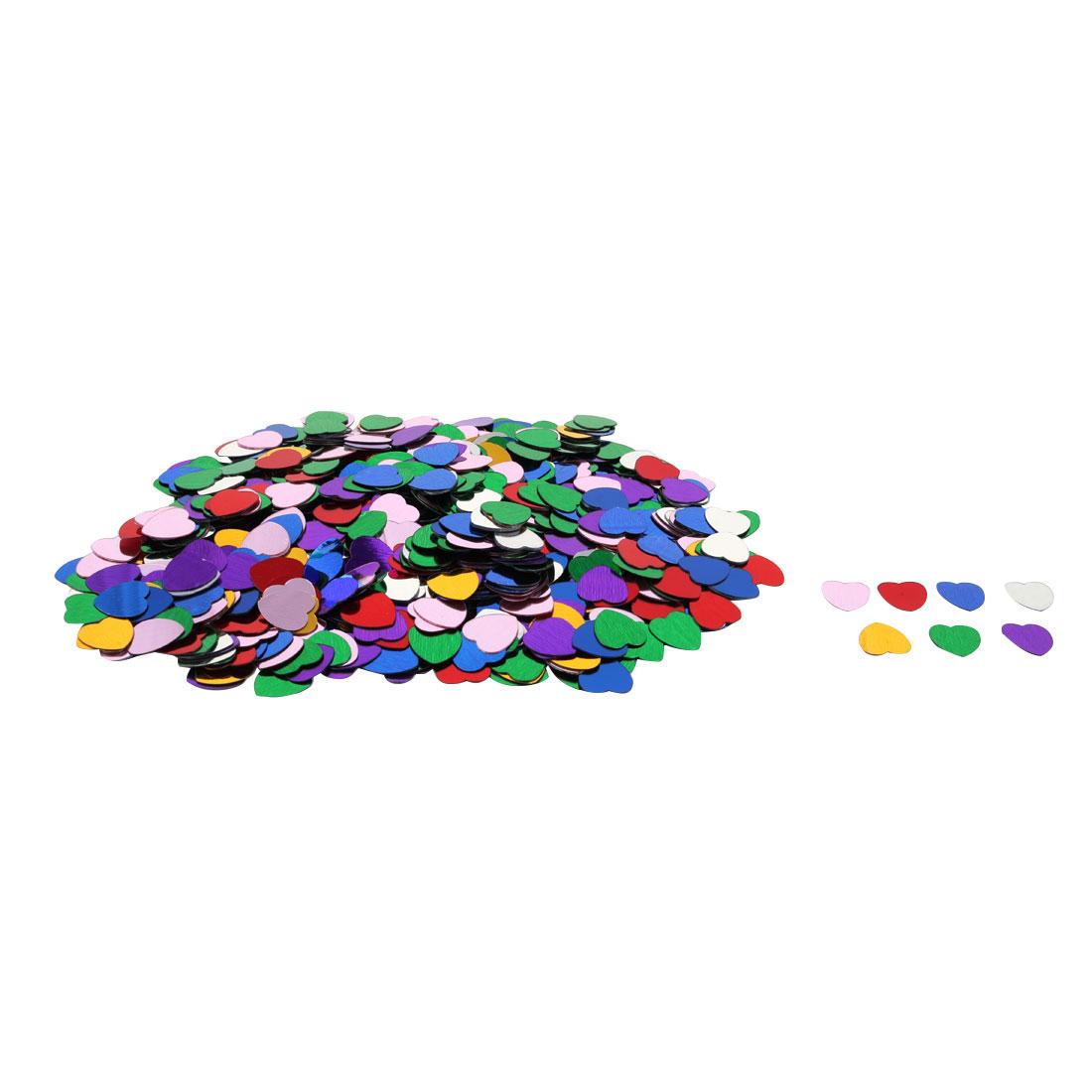 Wedding Plastic Heart Shaped Romance DIY Crystal Table Decor Assorted Color 500 Pcs