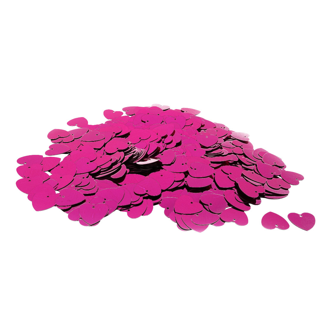 Wedding Party Plastic Heart Shaped Romance DIY Crystal Table Decor Fuchsia 500 Pcs
