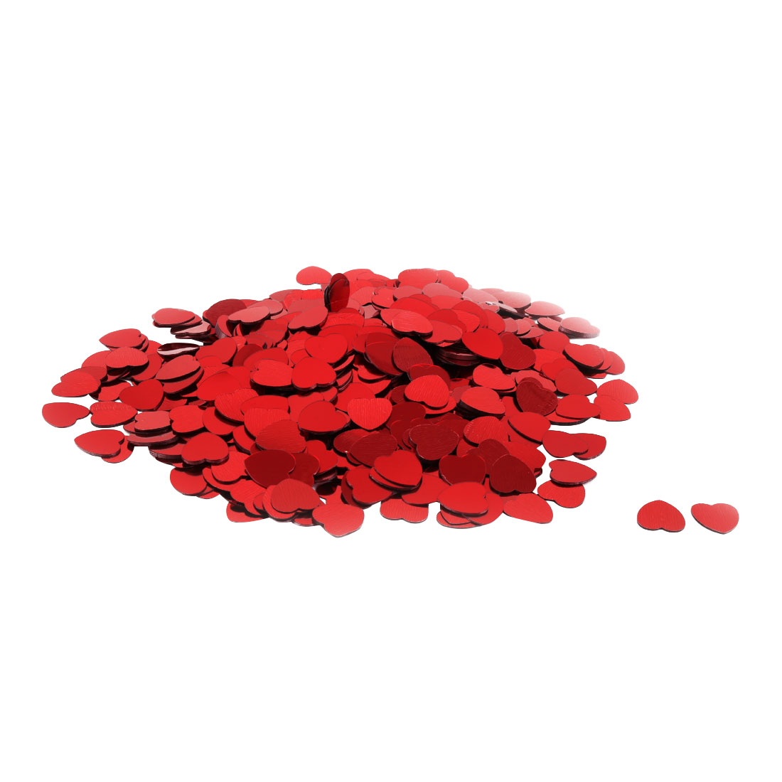 Wedding Party Plastic Heart Shaped Romance DIY Sprinkles Table Decor Red 500 Pcs