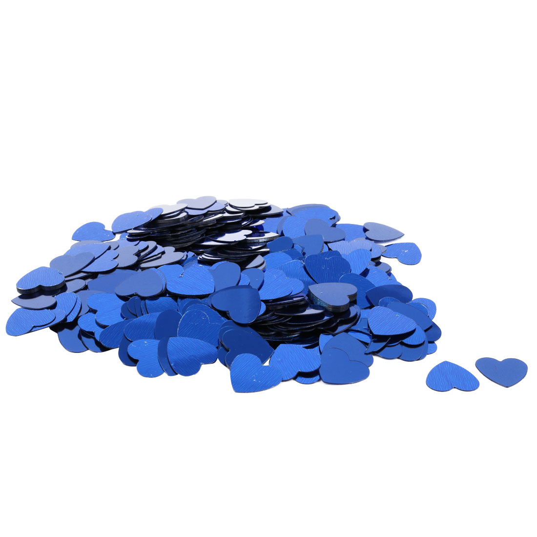 Wedding Party Plastic Heart Shaped DIY Heart Sprinkles Table Decoration Blue 500 Pcs