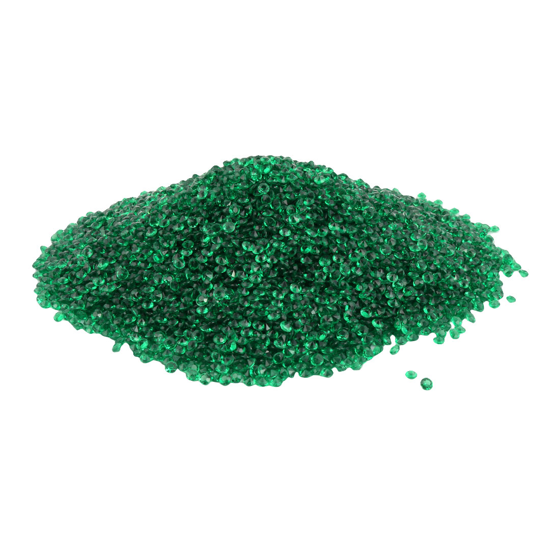 Plastic Crystal Inlay Wedding Party Decoration Green 4.5mm Diameter 10000 Pcs