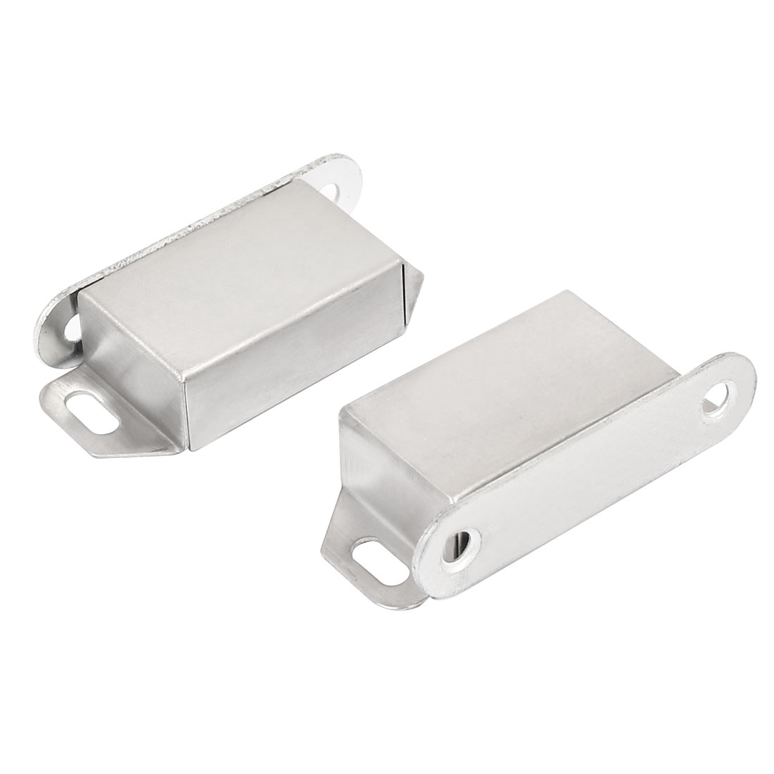 Cupboard Cabinet Stainless Steel Magnetic Catch Door Latch Silver Tone 2pcs