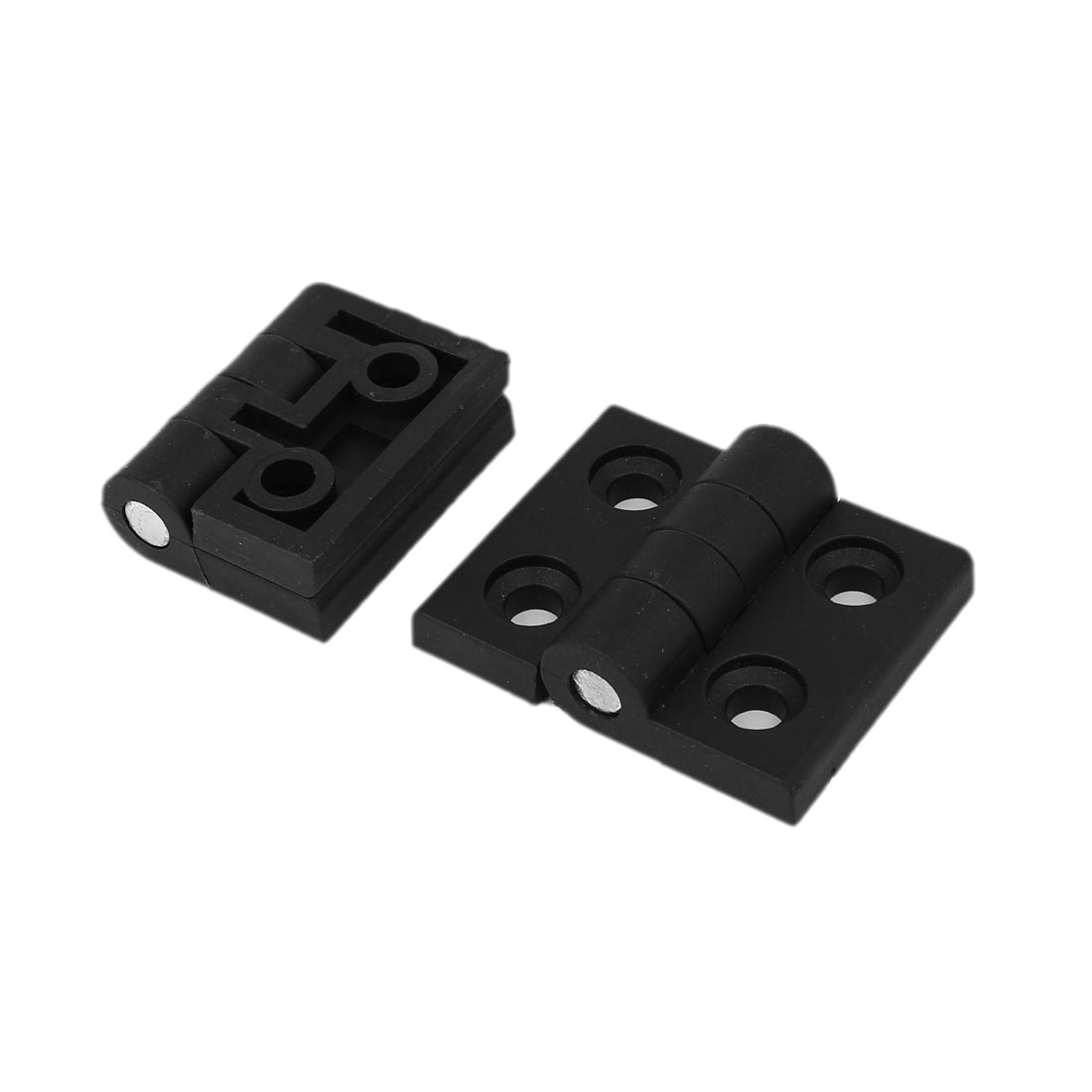 57mm x 45mm x 15mm Plastic 270 Degree Door Bearing Hinge Black 2pcs