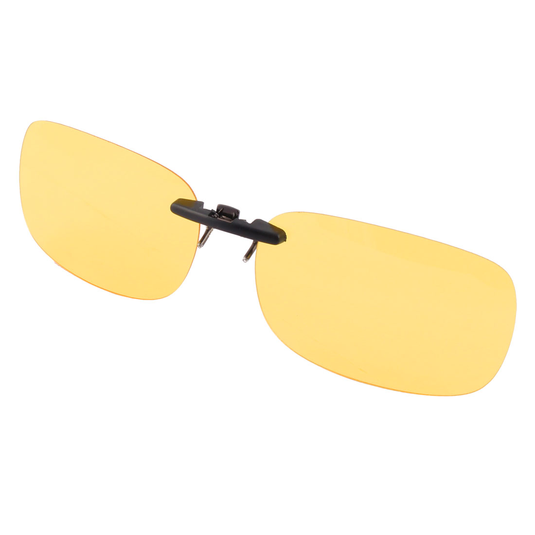 Driving Outdoor Plastic Rimless Lens Clip On Polarized Sunglasses Glasses Yellow