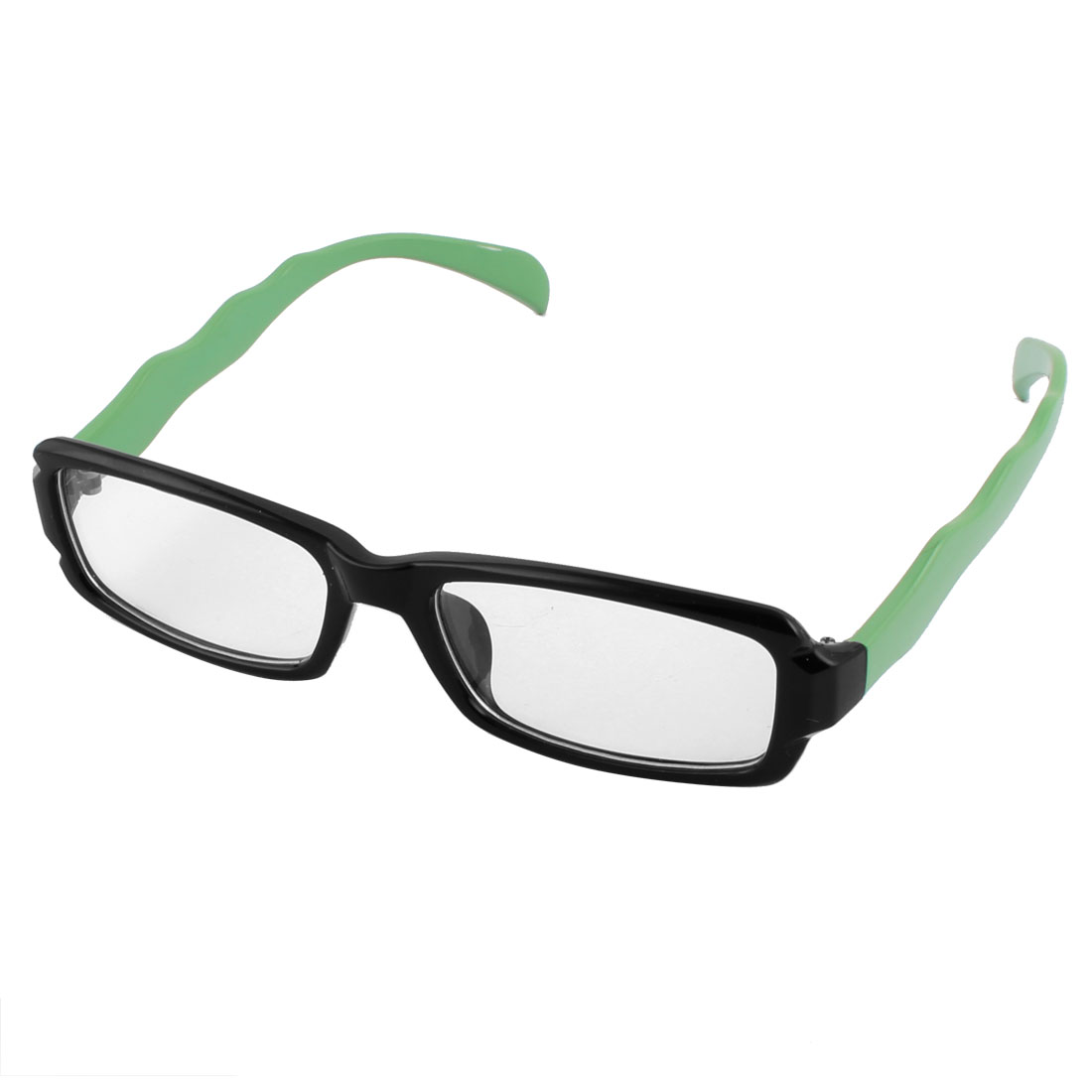 Office Reading Woman Plastic Rectangle Shaped Full Rim Single Bridge Plain Glasses
