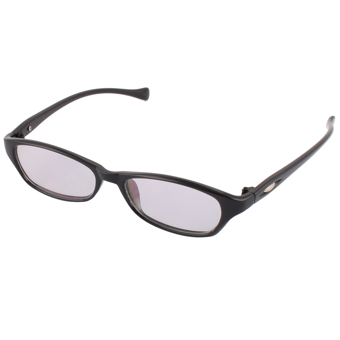 Travel Office Unisex Plastic Rectangle Shaped Full Frame Single Bridge Plain Glasses