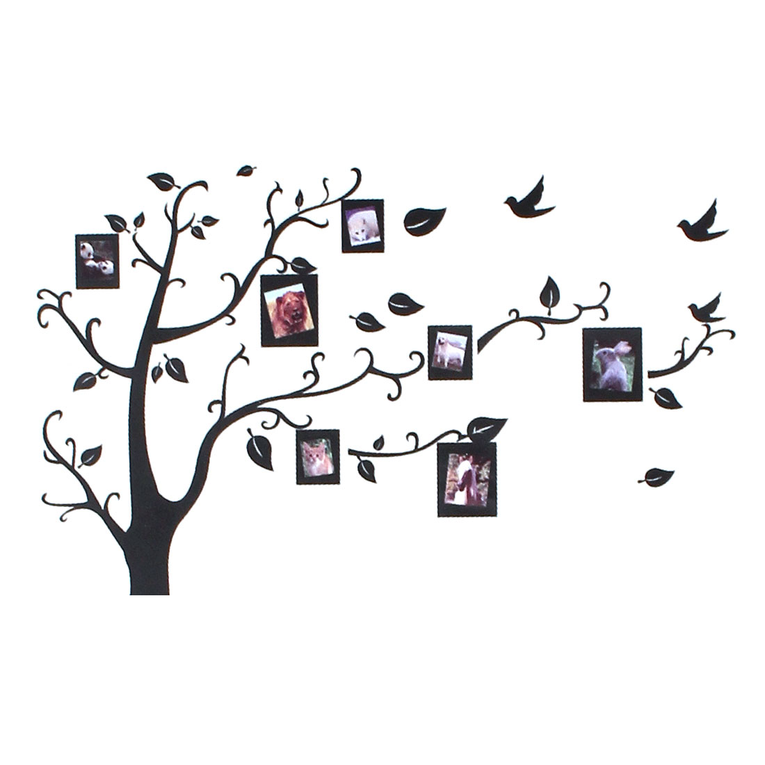 Home Living Room Television Wall Photo Album Tree Pattern Decorative DIY Sticker