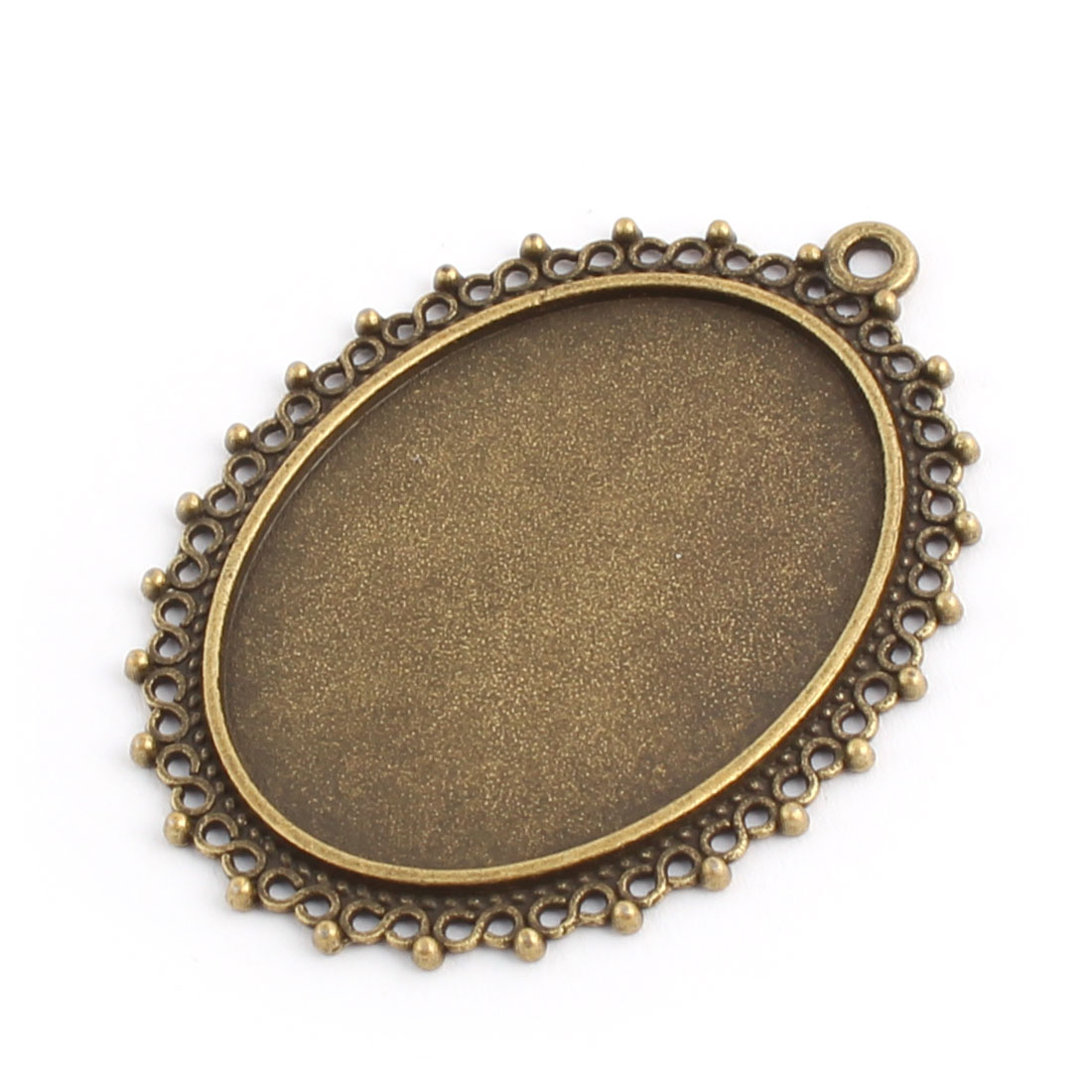 DIY Copper Alloy Oval Vintage Style Ornament Jewelry Pendant Trays 40mm x 30mm