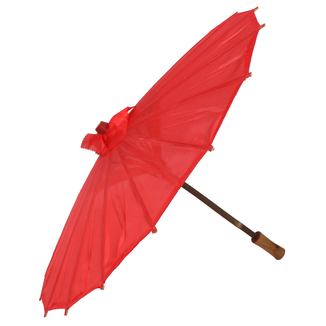Ladies Party Dancing Bamboo Frame Chinese Tradition Sun Umbrella Parasol Red
