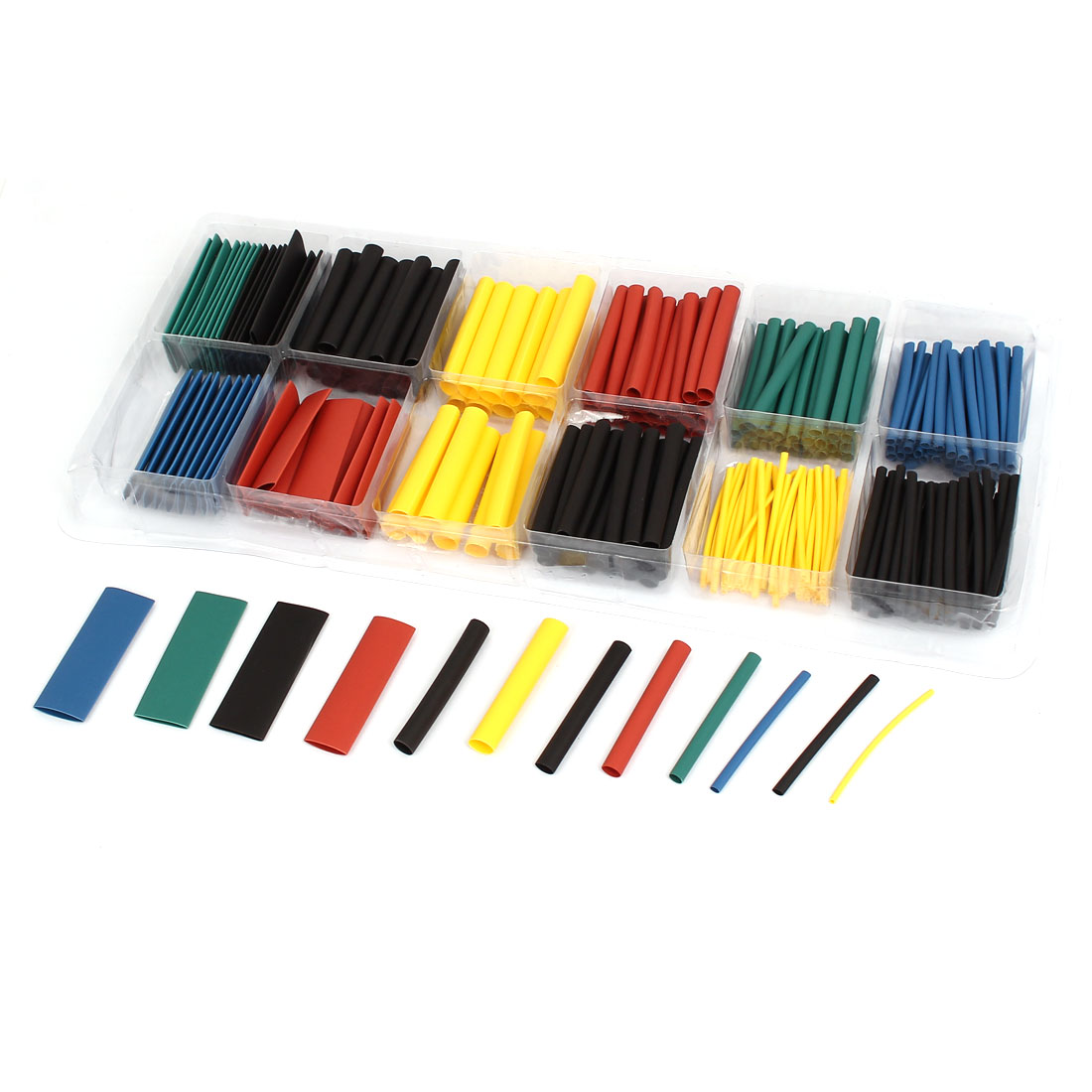 Five Colors Heat Shrink Tube Wire Wrap Cable Sleeve Sets 8 Sizes 280pcs