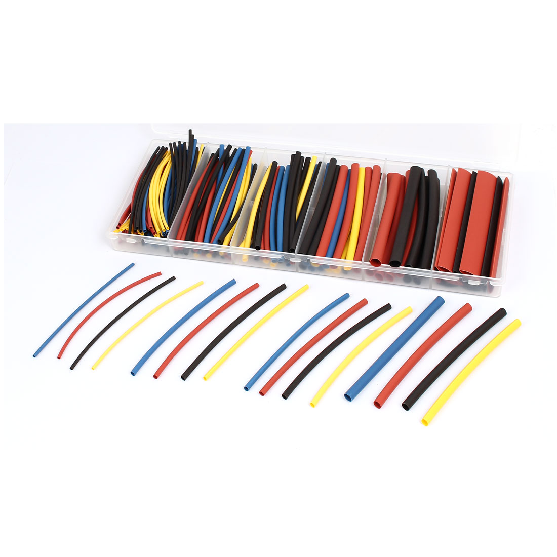 Four Colors Heat Shrink Tube Wire Wrap Cable Sleeve Sets 6 Sizes w Case 160pcs