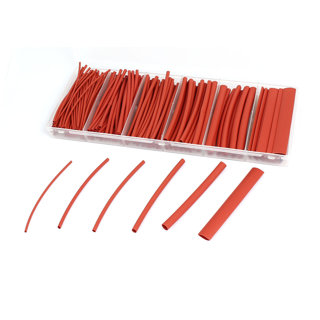 2:1 Heat Shrink Tube Wire Wrap Cable Sleeve Sets 6 Sizes Red w Case 160pcs