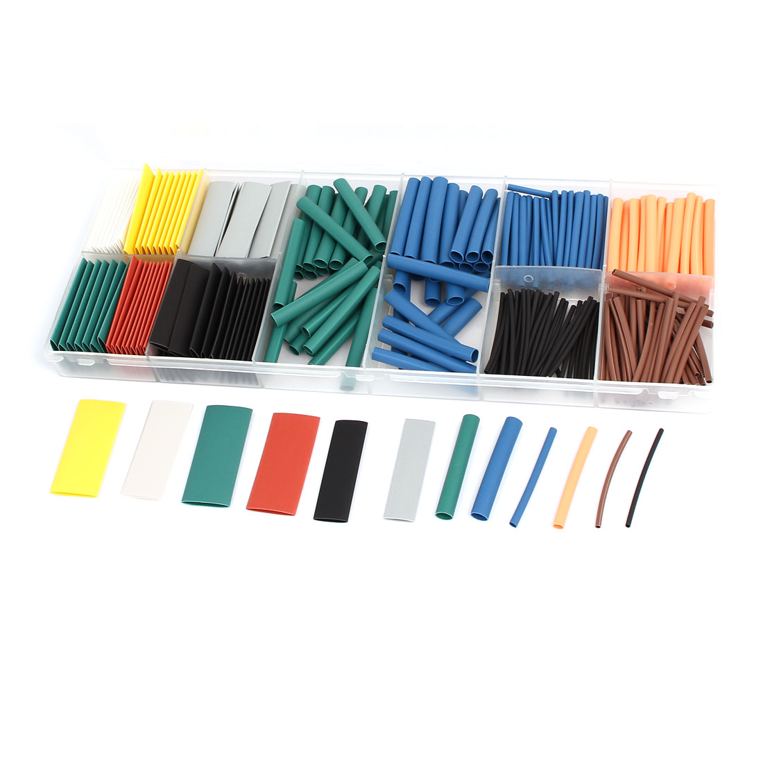 Nine Colors Heat Shrink Tube Wire Wrap Cable Sleeve Sets 9 Sizes w Case 280pcs