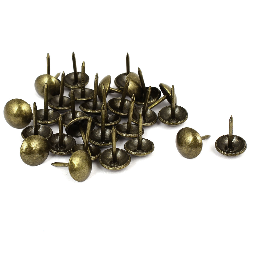 "Household Metal Domed Head Upholstery Tack Nail Bronze Tone 7/16"" Dia 30pcs"