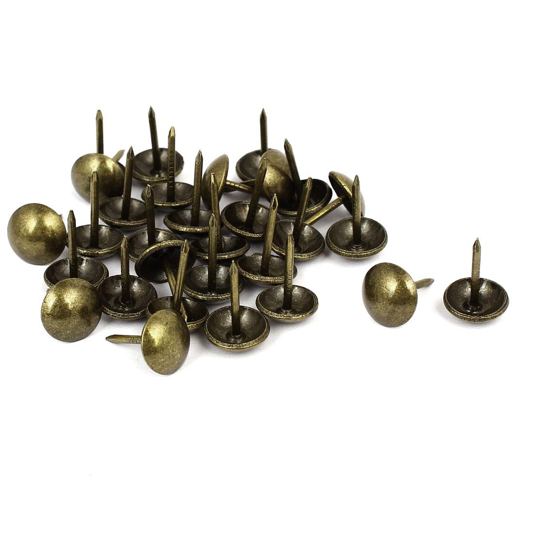 "Household Metal Domed Head Upholstery Tack Nail Bronze Tone 7/16"" Dia 30pcs"