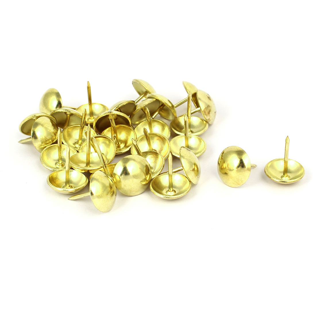 Home Metal Domed Shaped Upholstery Tack Nail Gold Tone 16mm Head Dia 30pcs