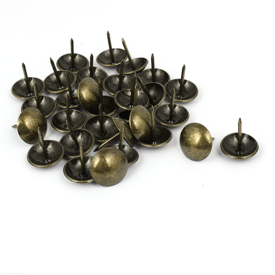 Household Metal Domed Head Upholstery Tack Nail Bronze Tone 19mm Dia 30pcs