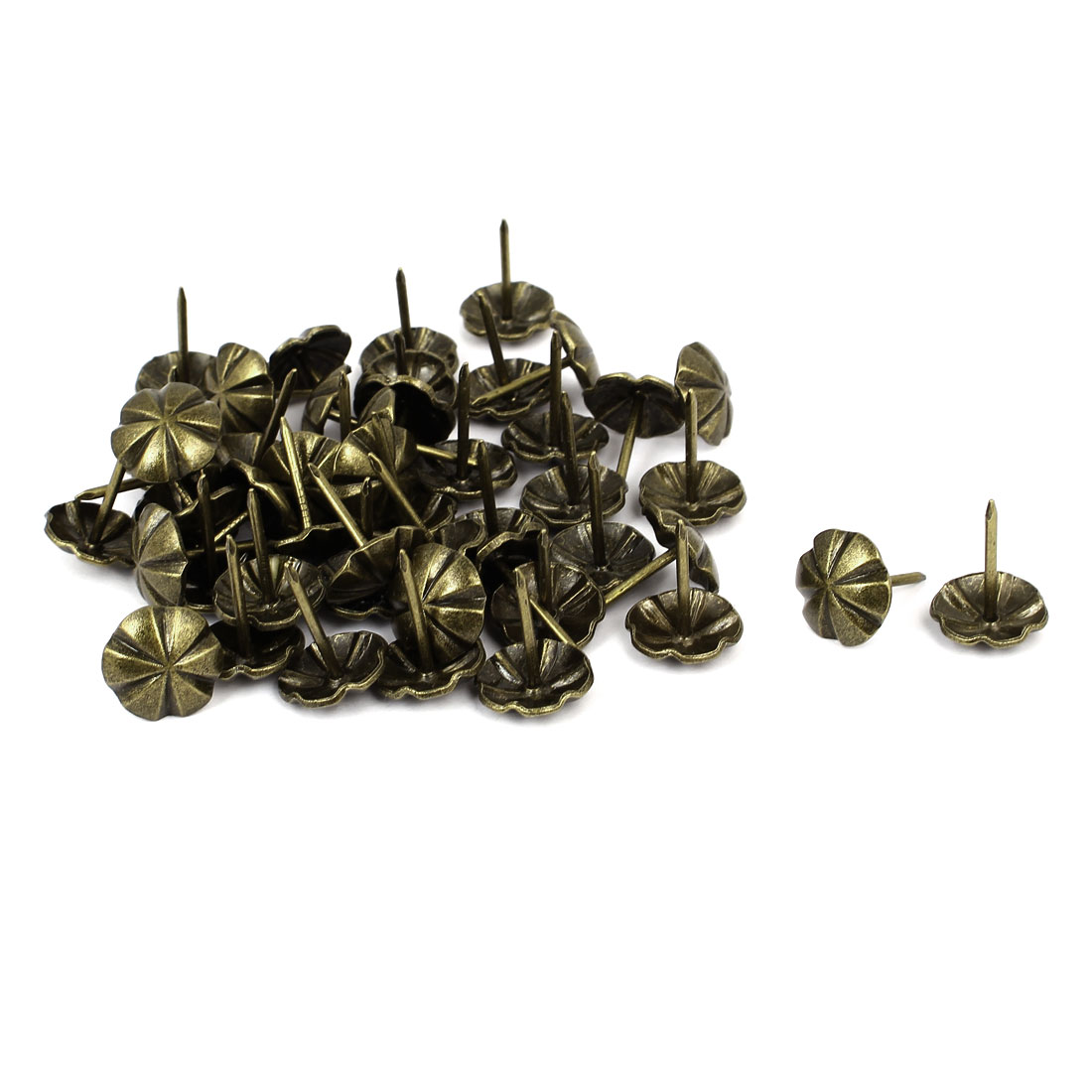 16mm Dia Metal Round Domed Head Upholstery Tack Nail Pushpin Bronze Tone 50pcs