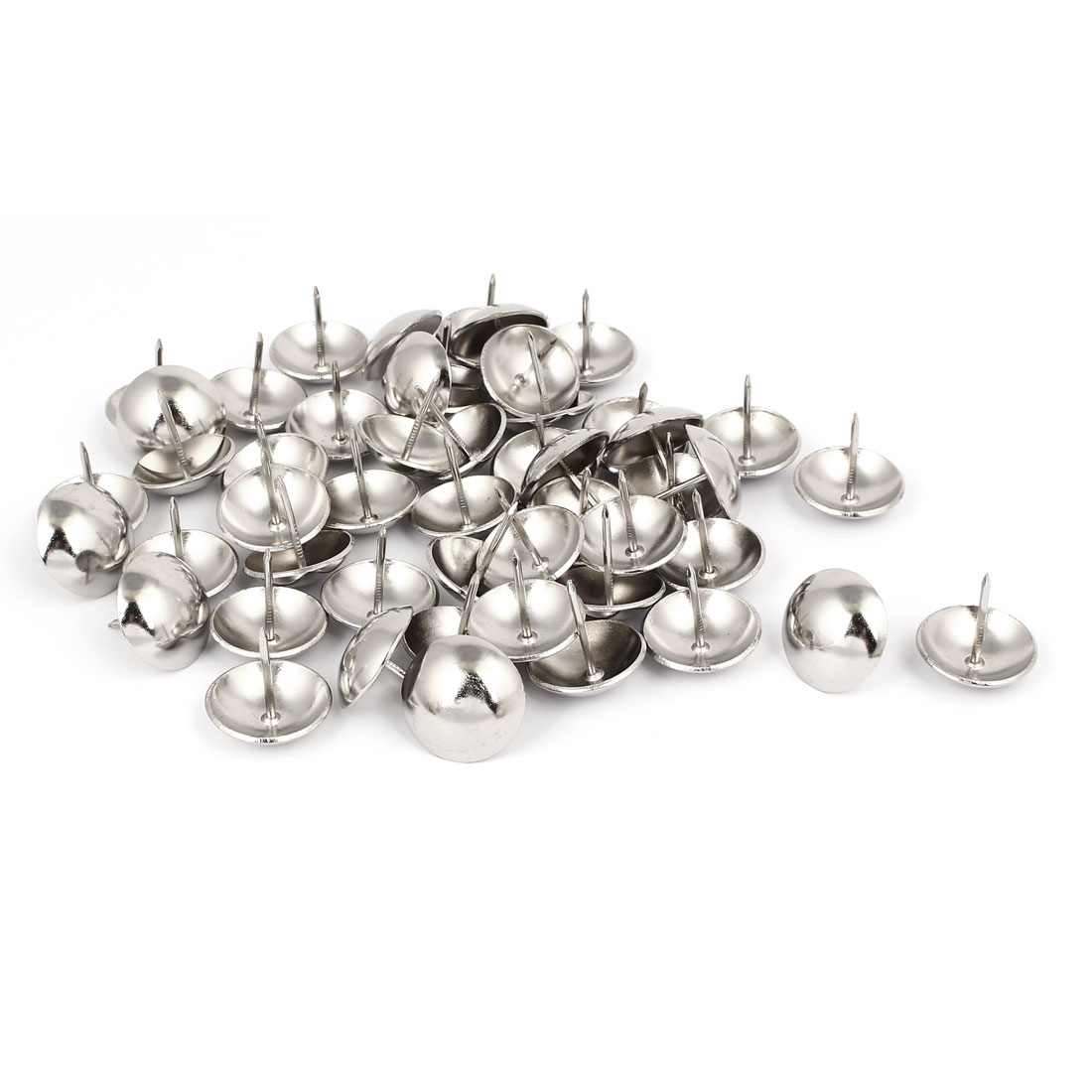 Home Metal Round Domed Head Upholstery Tack Nail Silver Tone 25mm Dia 50pcs