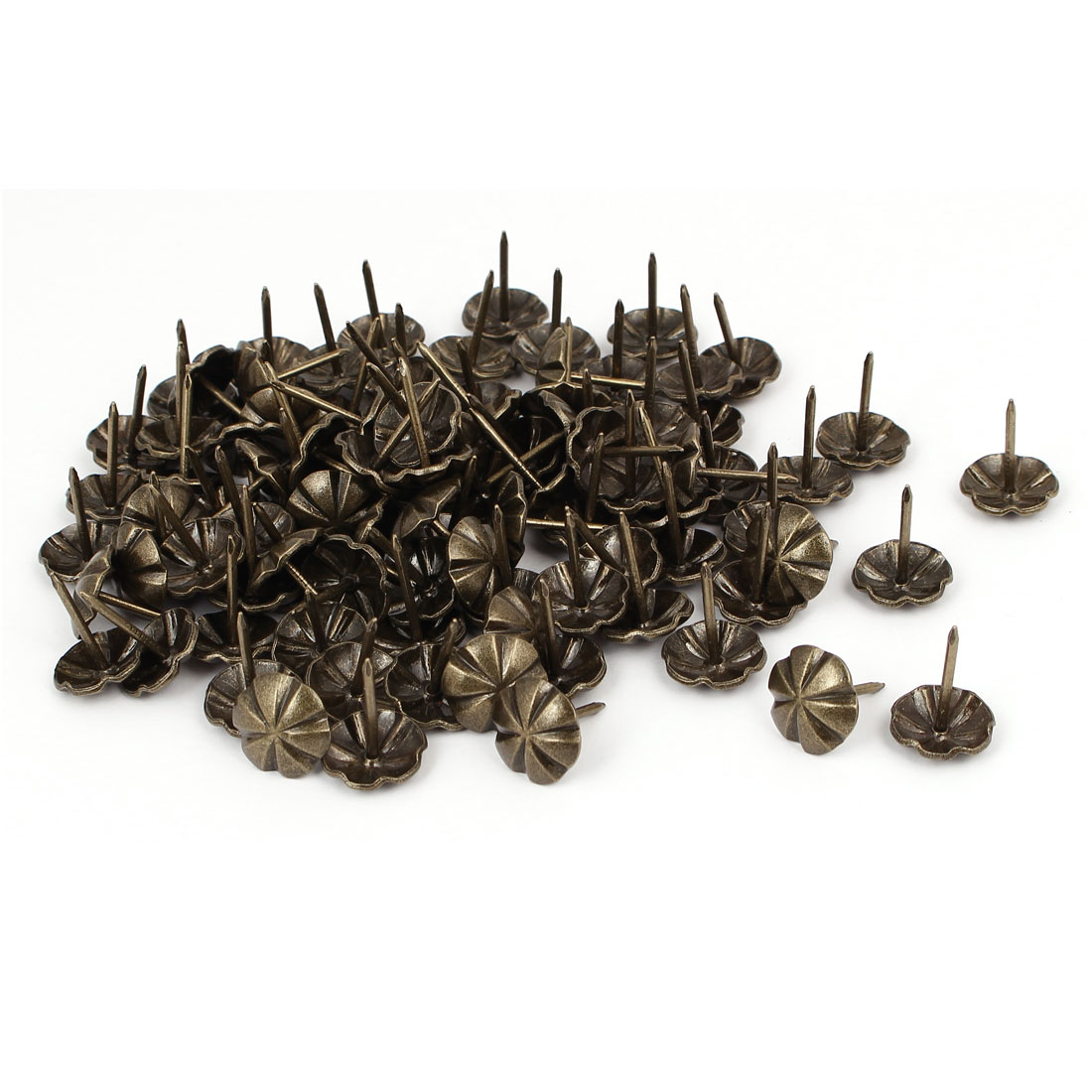 16mm Dia Metal Round Domed Head Upholstery Tack Nail Pushpin Bronze Tone 100pcs