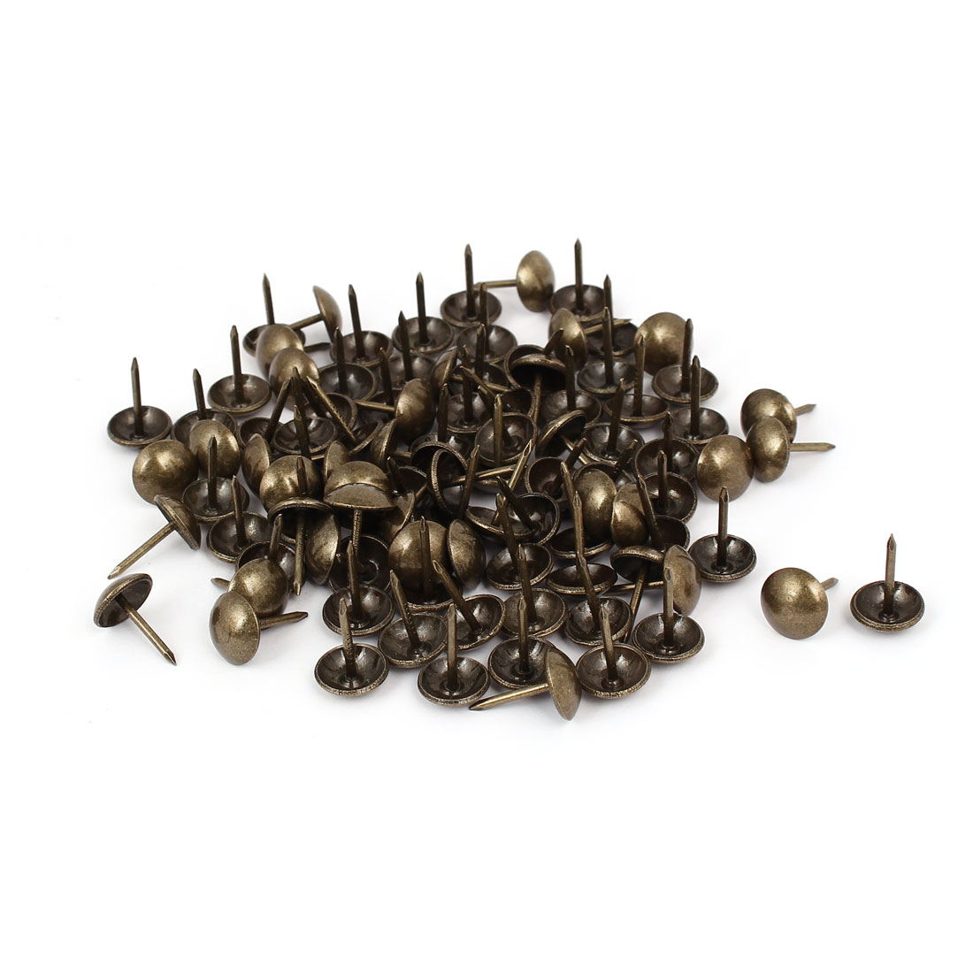 "Household Metal Domed Head Upholstery Tack Nail Bronze Tone 7/16"" Dia 120pcs"