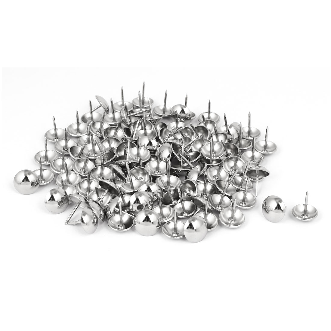 Home Metal Round Domed Head Upholstery Tack Nail Silver Tone 16mm Dia 120pcs