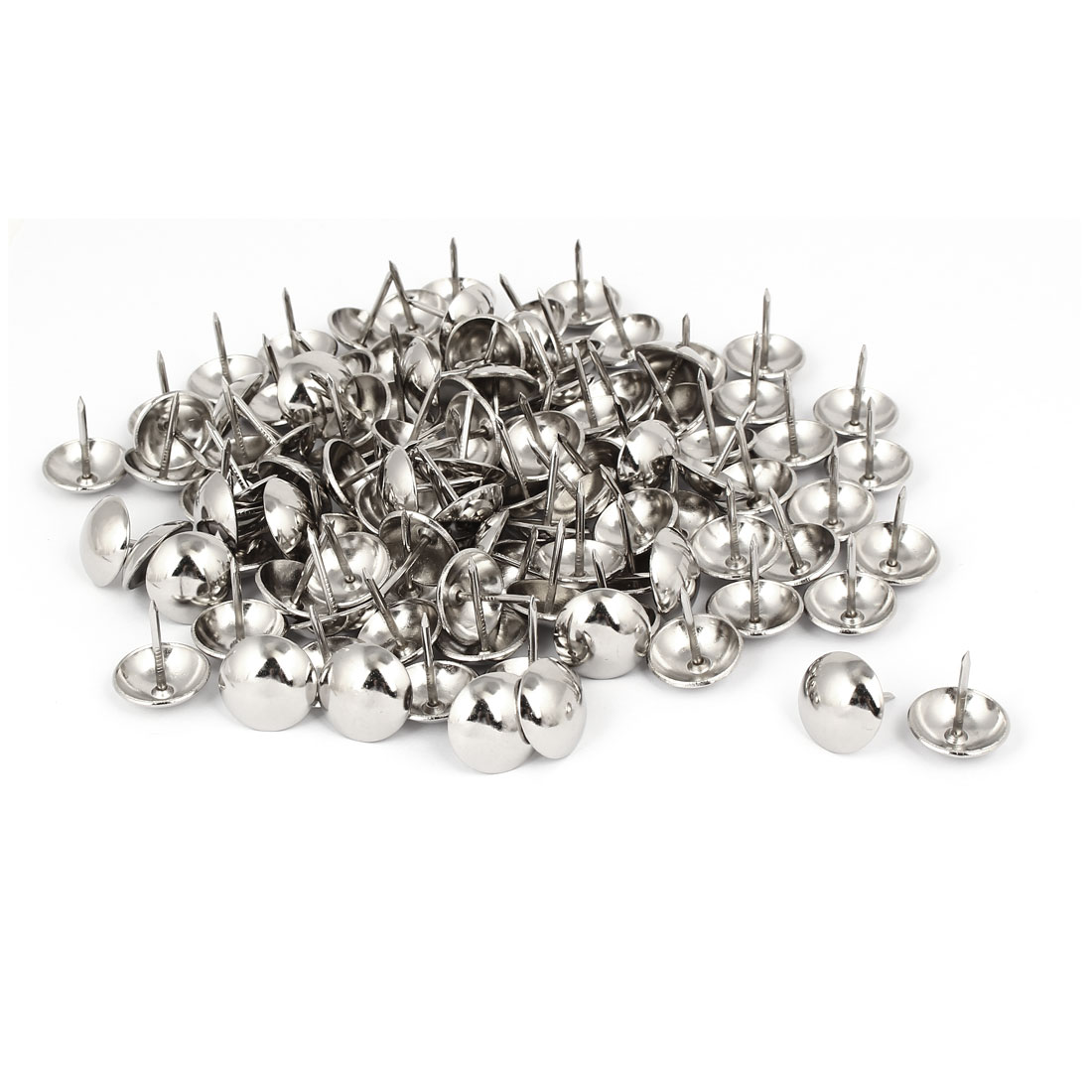 Home Metal Round Domed Head Upholstery Tack Nail Silver Tone 19mm Dia 120pcs
