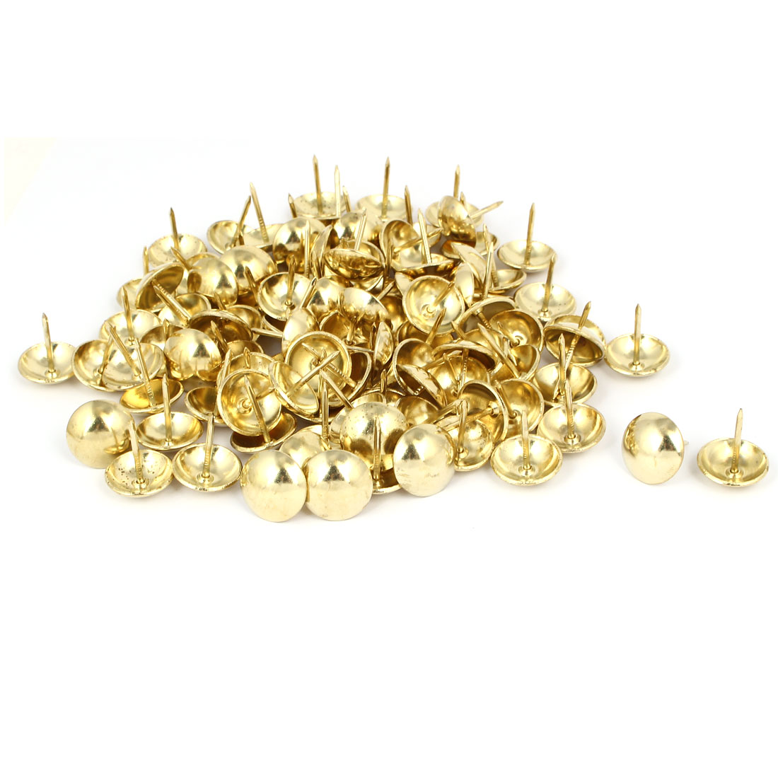 Metal Round Head Upholstery Tack Nail Gold Tone 19mm Dia 120pcs for Home Decor