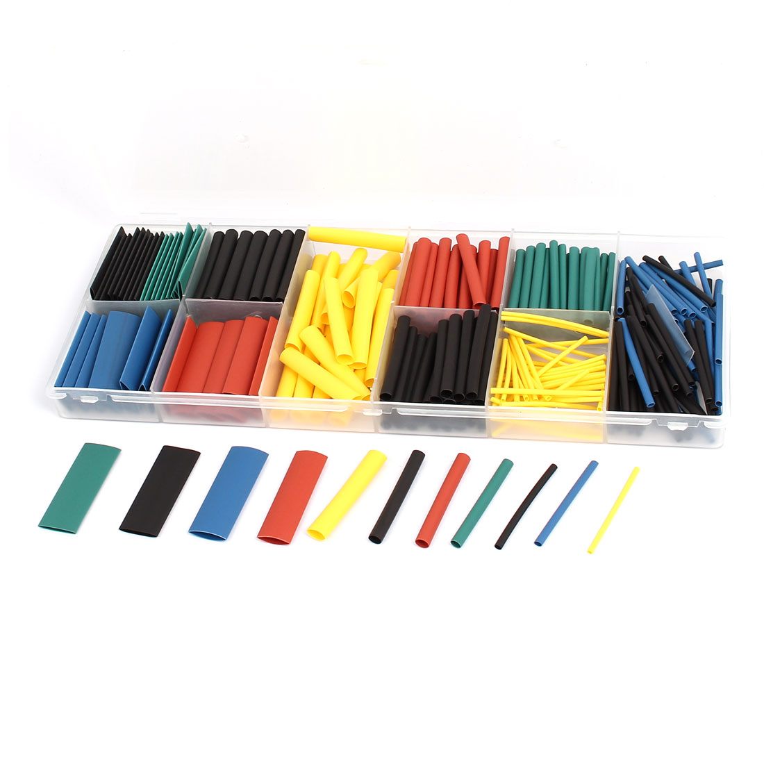 Five Colors Heat Shrink Tube Wire Wrap Cable Sleeve Sets 8 Sizes w Case 280pcs