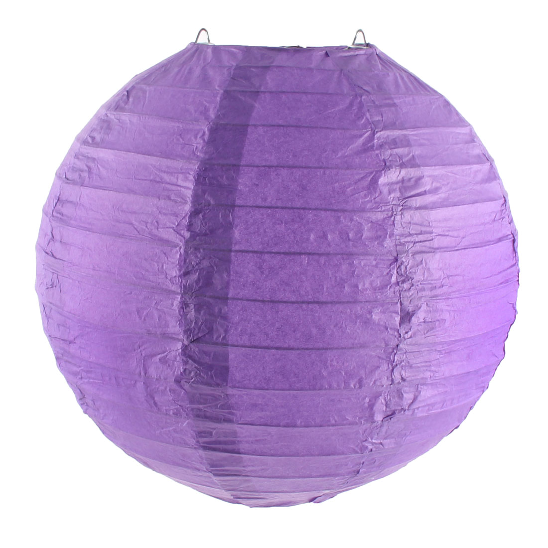 Christmas Paper Lantern Handmade String Light Decoration Purple 8 Inches