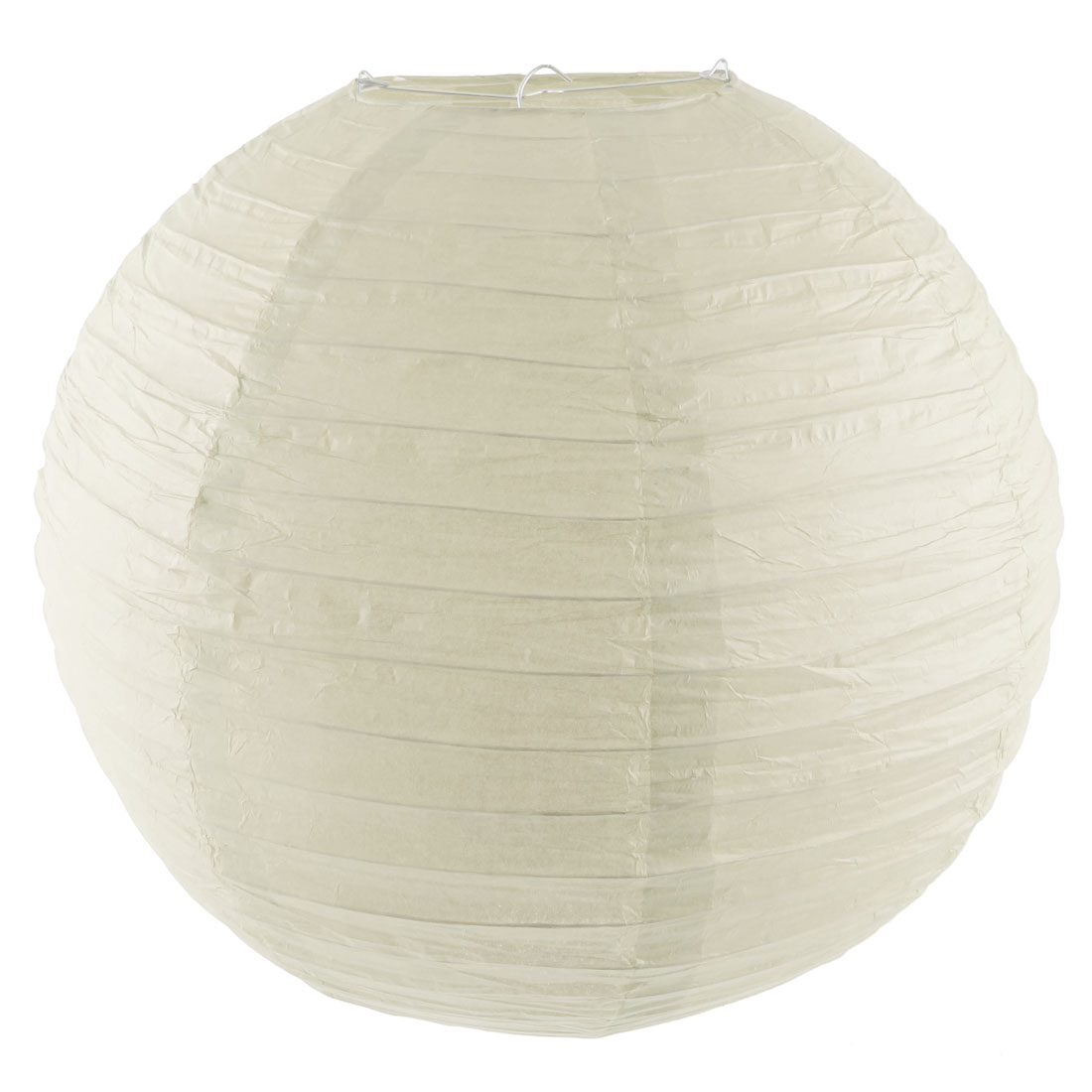 Christmas Party Paper Round Handmade DIY Decor Lantern Off White 16 Inch Dia