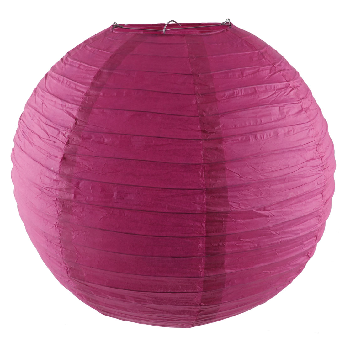 Household Party Paper Ball Shape DIY Hanging Decor Lantern Fuchsia 16 Inch Dia