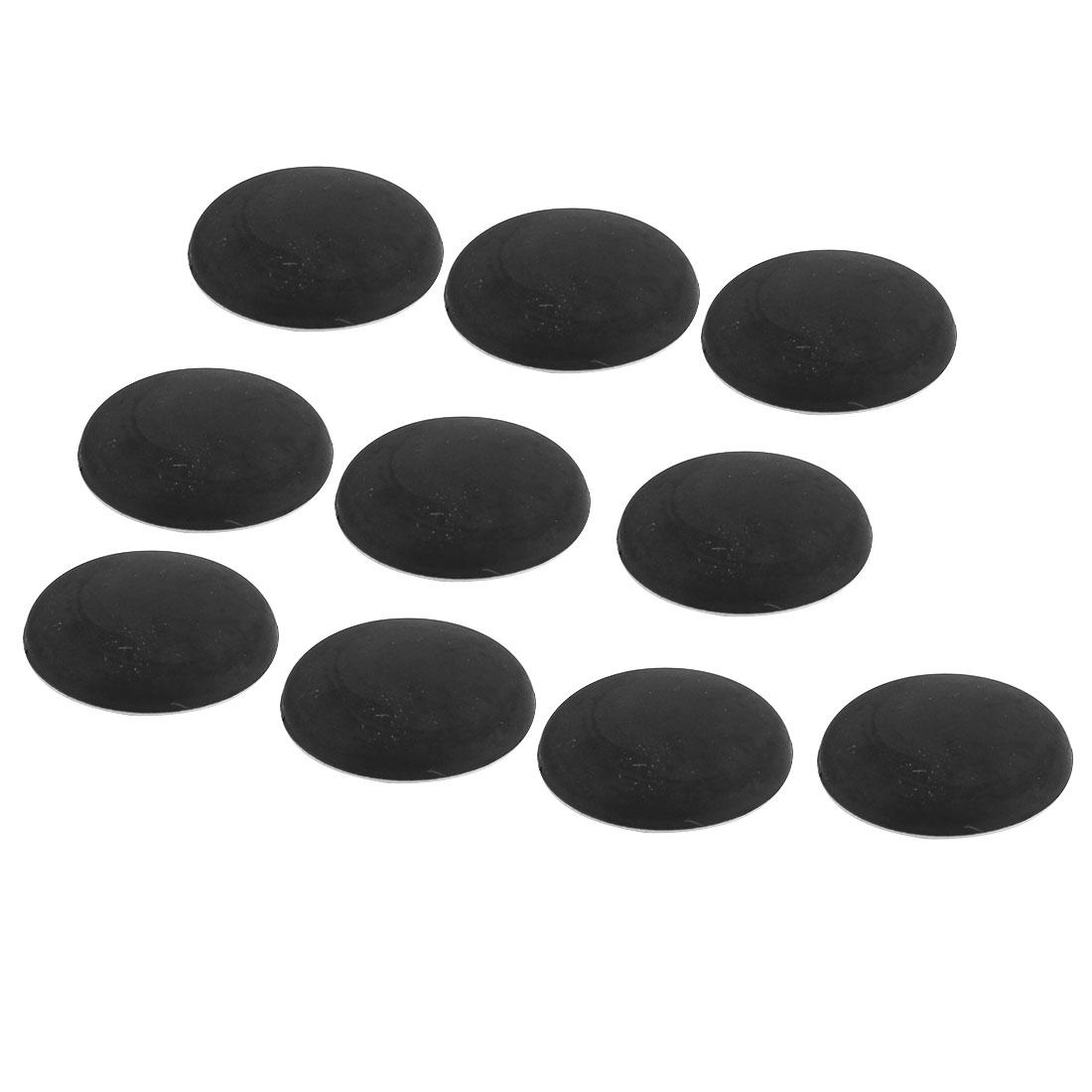 Household Plastic Wall Protectors Self Adhesive Door Handle Bumper Guard Stopper Black 10pcs