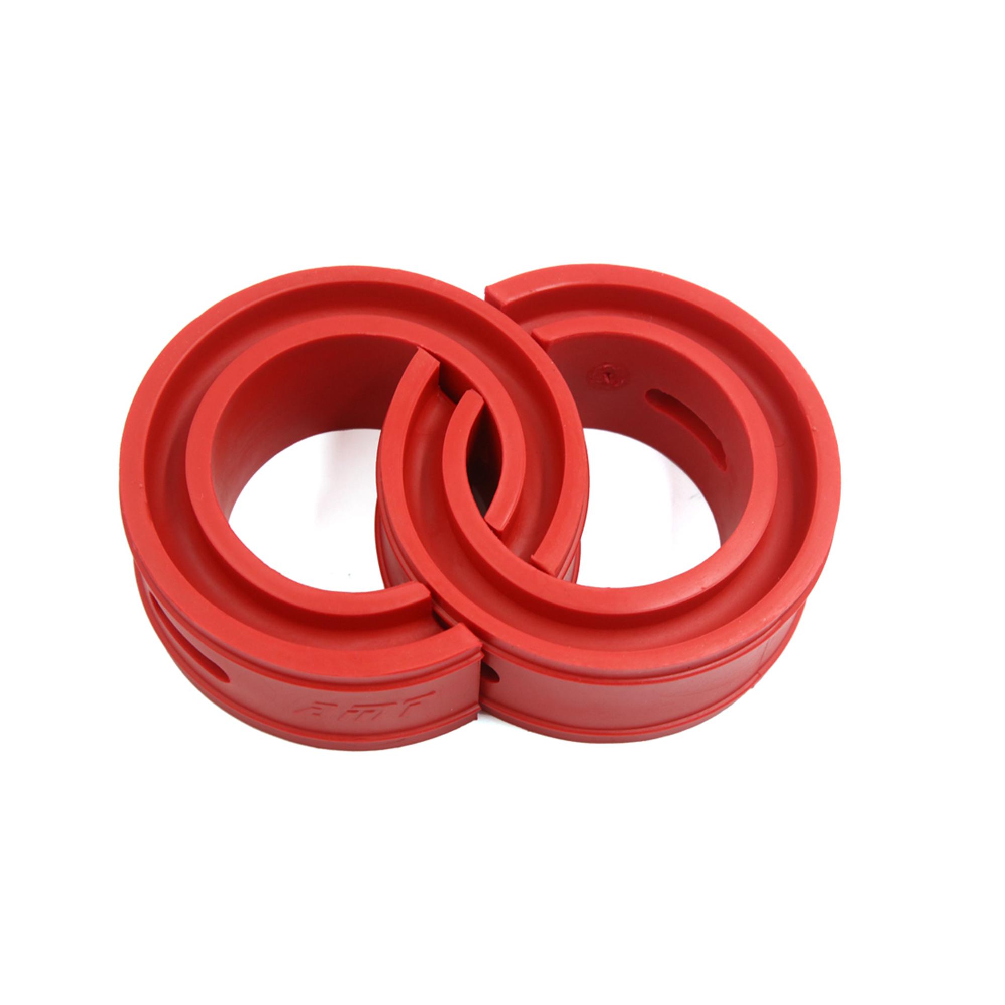 Type-D Red Car Rubber Shock Absorber Spring Bumper Buffer Power Cushion 2pcs