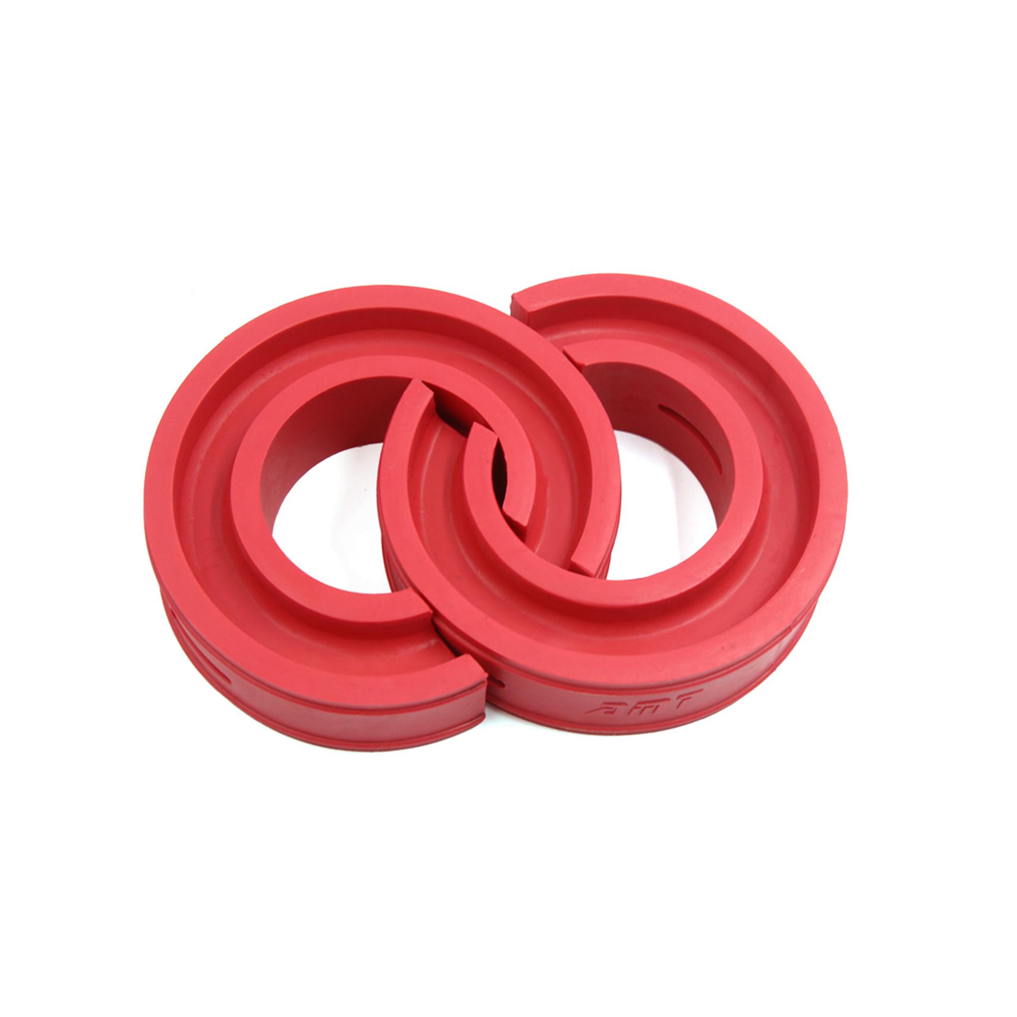 Type-F Red Car Rubber Shock Absorber Spring Bumper Buffer Power Cushion 2pcs