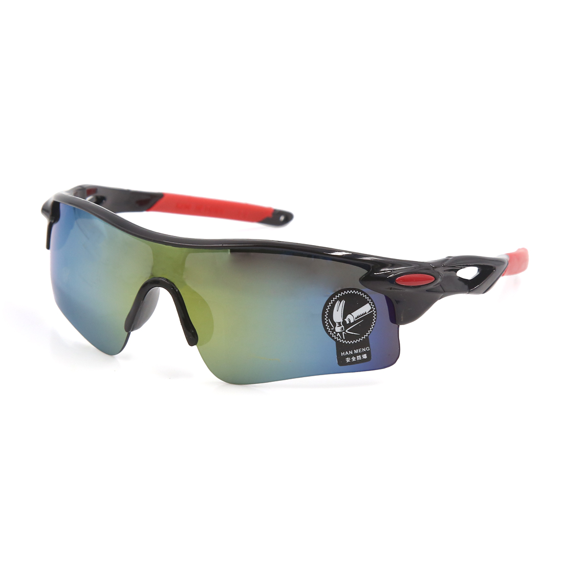 Outdoor Sports Bike Cycling Black Red Half Frame Colorful Lens Eyewear Goggles