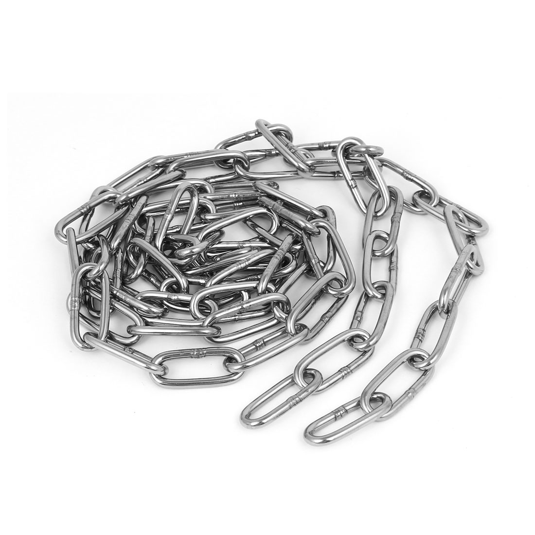 Pet Dog Training Clothes Hanging 304 Stainless Steel Coil Chain Silver Tone M3x5Ft