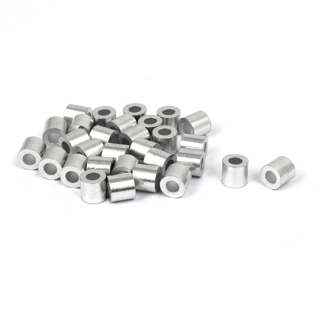 M3 Aluminium Wire Rope Cable Crimping Button Stop Sleeve Clip Fitting Loop 30pcs