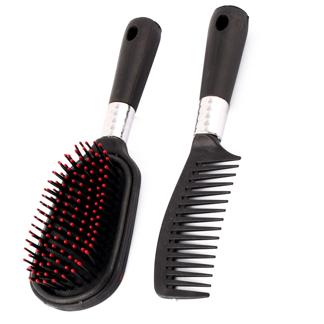 Home Travel Plastic Head Scalp Massage Anti Static Brush Hair Comb Mirror 2 in 1